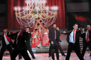 picture of the Fifth Prime of star academy on March 19th 2010 with student Mohamad Ali from Egypt singing on stage
