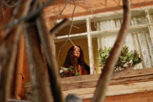 turkish model and actress Tuba Buyukustun on the set of a new turkish darama series of the name of Gonulcelen 28