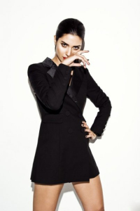 turkish model and actress Tuba Buyukustun Photo shoot for an issue of Marie Calire Magazine 2