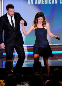 Ben Affleck and Jennifer Garner onstage during the 24th American Cinematheque Awards held on March 27th 2010 at the Beverly Hilton Hotel in California 1