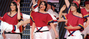 picture of the seventh prime of star academy 7 on April 2nd 2010 with a Dabkeh Tableau of Asma Mahalawi and Tahra Hmamish and Rahma Ahmad