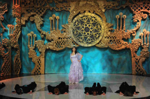 picture of the seventh prime of star academy 7 on April 2nd 2010 with Asmaa Mahalauoi in a Trab Tableau singig In Rah Mennek Ya Ein