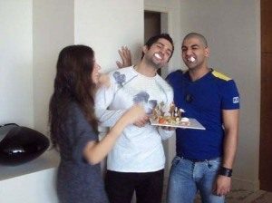 Picture of Mohamad bash birthday held at his house in Syria March 2010 with Ibrahim Dashti and Lara Scandar 4