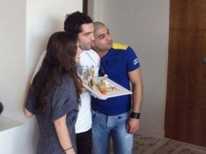 Picture of Mohamad bash birthday held at his house in Syria March 2010 with Ibrahim Dashti and Lara Scandar 2