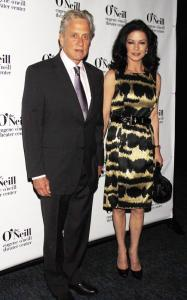 Catherine Zeta Jones and Michael Douglas were spotted at the 2010 Eugene ONeill Theatre Center on April 5th 2010 for the Monte Cristo Awards dinner 1