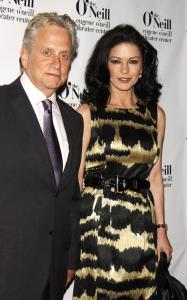 Catherine Zeta Jones and Michael Douglas were spotted at the 2010 Eugene ONeill Theatre Center on April 5th 2010 for the Monte Cristo Awards dinner 2