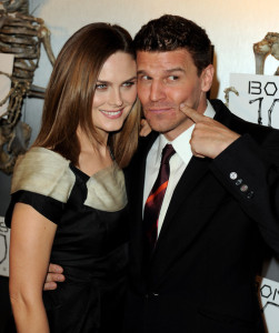 Emily Deschanel and David Boreanaz arrive at Fox TVs celebration of Bones 100th episode at 650 North on April 7th 2010 in Los Angeles 4