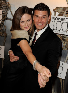 Emily Deschanel and David Boreanaz arrive at Fox TVs celebration of Bones 100th episode at 650 North on April 7th 2010 in Los Angeles 5