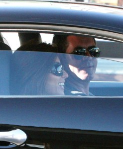 Simon Cowell and his fiance Mezghan Hussainy seen together on March 12th 2010 as they were inside his Bentley in Los Angeles 3