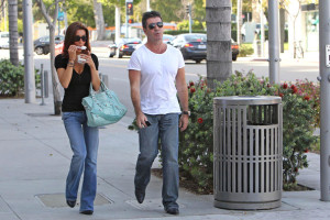 Simon Cowell and his fiance Mezhgan Hussainy seen together on March 27th 2010 as they visit Heritage Classic Cars then a Pinkberry for some frozen yogurt 4