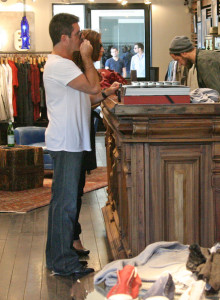 Simon Cowell and his fiance Mezhgan Hussainy seen together on March 15th 2010 as they were shopping at the Malibu country market 5