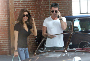 Simon Cowell and his fiance Mezhgan Hussainy seen together on March 27th 2010 as they visit Heritage Classic Cars then a Pinkberry for some frozen yogurt 5