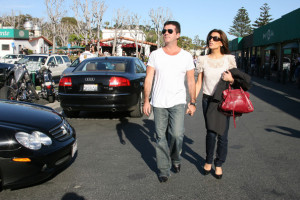 Simon Cowell and his fiance Mezhgan Hussainy seen together on March 15th 2010 as they were shopping at the Malibu country market 7