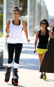 Kim and Kourtney Kardashian were spotted together on April 9th 2010 near the South Beach shoreline while working out with what looked like training shoes 5