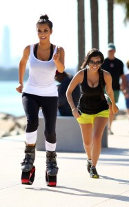 Kim and Kourtney Kardashian were spotted together on April 9th 2010 near the South Beach shoreline while working out with what looked like training shoes 4