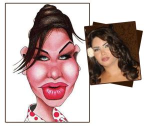 Asmaa Mahalaoui caricature drawing