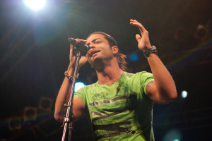 Fadi Andraos large high quality image while on stage singing at the Wakestock concert in Abu Dhabi 10