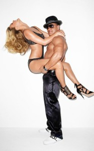 Bar Refaeli new swimsuit photo shoot of April 2010 with the male stars of Jersey Shore 3
