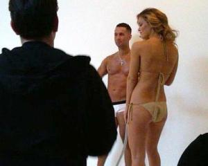 Bar Refaeli new swimsuit photo shoot of April 2010 with the male stars of Jersey Shore 1