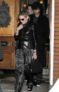 Madonna seen with Jesus Luz on March 31st 2010 as they have a private dinner together in Chelsea London 2