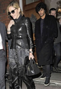 Madonna seen with Jesus Luz on March 31st 2010 as they have a private dinner together in Chelsea London 1