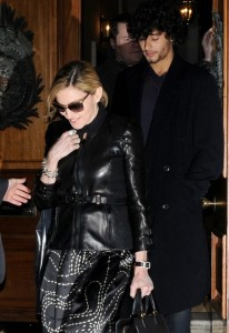 Madonna seen with Jesus Luz on March 31st 2010 as they have a private dinner together in Chelsea London 7