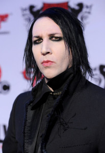 Marilyn Manson arrives at the 2nd annual Revolver Golden Gods Awards held at Club Nokia on April 8th 2010 in Los Angeles 2