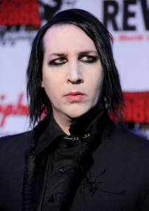Marilyn Manson arrives at the 2nd annual Revolver Golden Gods Awards held at Club Nokia on April 8th 2010 in Los Angeles 1