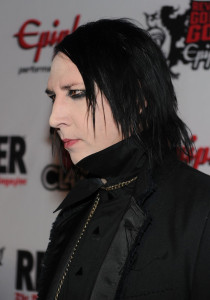 Marilyn Manson arrives at the 2nd annual Revolver Golden Gods Awards held at Club Nokia on April 8th 2010 in Los Angeles 5
