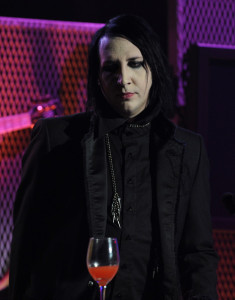 Marilyn Manson on stage at the 2nd annual Revolver Golden Gods Awards held at Club Nokia on April 8th 2010 in Los Angeles 2