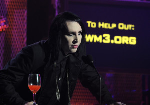 Marilyn Manson on stage at the 2nd annual Revolver Golden Gods Awards held at Club Nokia on April 8th 2010 in Los Angeles 3