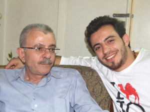 Basel Khoury at his house after reaching back amman when he left star academy season seven with his father