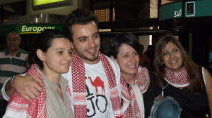 Basel Khoury picture as he arrives to Amman Airpot in Jordan where he was awaited by his family members and jordanian fans 4