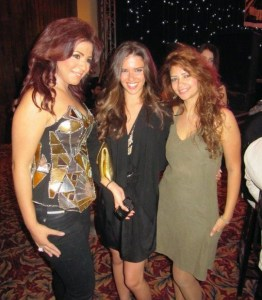 picture Rania Nageeb with Shahinaz and Lara Scandar at Mohamad Serag birthday party on April 21st 2010 in Cairo Egypt 10