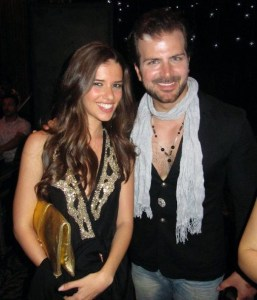 picture of Lara Scandar and Hani at Mohamad Serag birthday party on April 21st 2010 in Cairo Egypt 5