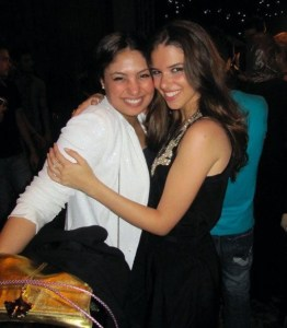picture of Lara Scandar and Marwa at Mohamad Serag birthday party on April 21st 2010 in Cairo Egypt 3