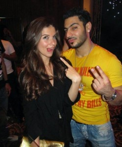 picture of Lara Scandar and Nasser Abu Lafi at Mohamad Serag birthday party on April 21st 2010 in Cairo Egypt 2