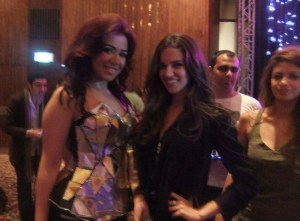 picture of Lara Scandar and Shahinaz at Mohamad Serag's birthday party on April 21st 2010 in Cairo Egypt