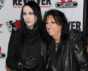 Alice Cooper and Marilyn Manson arrive at the 2nd annual Revolver Golden Gods Awards held at Club Nokia on April 8th 2010 in Los Angeles 2