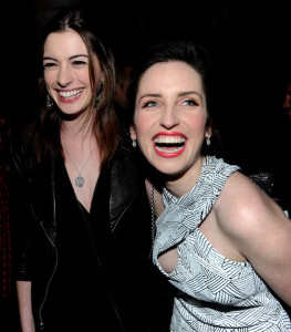 Anne Hathaway and Zoe Lister Jones at the after party for the premiere of Breaking Upwards held at The Silent Movie Theater on April 8th 2010 in Los Angeles 2