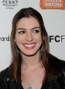 Anne Hathaway arrives at the premiere of Breaking Upwards at the Silent Movie Theatre on April 8th 2010 in Los Angeles California 5