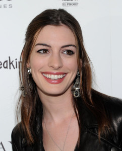 Anne Hathaway arrives at the premiere of Breaking Upwards at the Silent Movie Theatre on April 8th 2010 in Los Angeles California 1