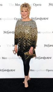 Bette Midler attends the Metropolitan Opera gala permiere of Armida at The Metropolitan Opera House on April 12th 2010 in New York City 3