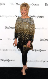 Bette Midler attends the Metropolitan Opera gala permiere of Armida at The Metropolitan Opera House on April 12th 2010 in New York City 1