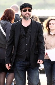 Brad Pitt spotted on April 14th 2010 as he visits the Antolini Luigi warehouse in Sega di Cavaion northern Italy 1