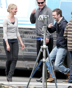 Cameron Diaz and Justin Timberlake spotted on Apri 7th 2010 together on the filming set of their first movie entitled Bad Teacher 1