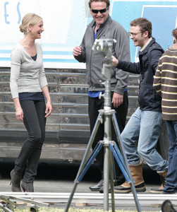 Cameron Diaz and Justin Timberlake spotted on Apri 7th 2010 together on the filming set of their first movie entitled Bad Teacher 4