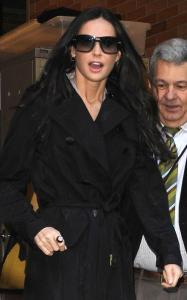 Demi Moore spotted on April 14th 2010 as she arrives at Good Morning America studios 4
