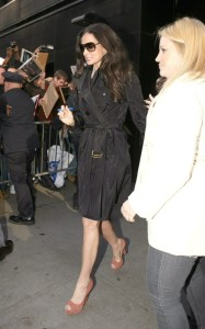 Demi Moore spotted on April 14th 2010 as she arrives at Good Morning America studios 2