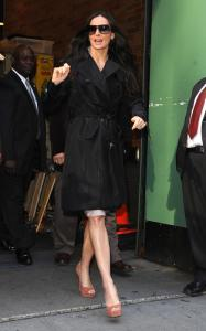 Demi Moore spotted on April 14th 2010 as she arrives at Good Morning America studios 3